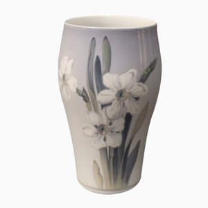 Dänische Vase mit Floralem Motiv von Royal Copenhagen, 1957