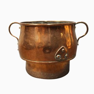 Vintage Danish Patinated Copper Pot, 1970s