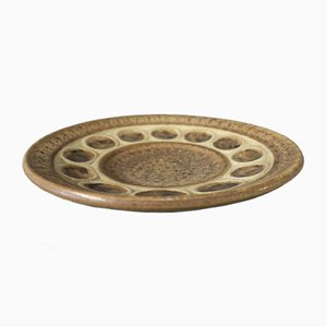Plato de cerámica marrón de Michael Andersen and Son, años 60