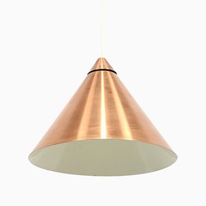 Scandinavian Cone Shaped Copper Pendant, 1960s