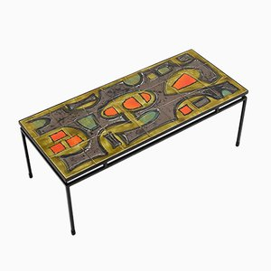 Tavolino da caffè in ceramica dipinta a mano di Juliette Belarti