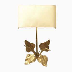 French Brass Reeds Wall Sconce, 1960s