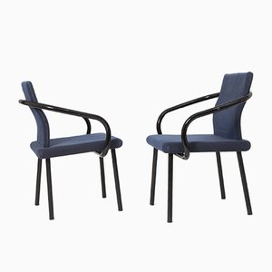 Blue Mandarin Chairs by Ettore Sottsass for Knoll, 1980s, Set of 4