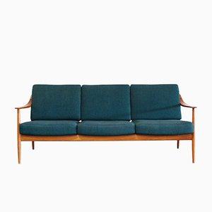 Blaues Teak Sofa von Knoll, 1960er