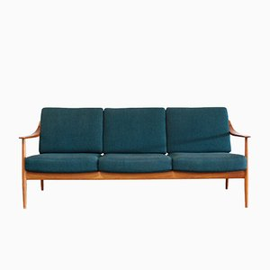 Petrol Teak Sofa from Knoll, 1960s