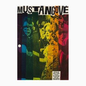 Affiche Vintage The Misfits par W.A. Schlosser, Tchécoslovaquie, 1964