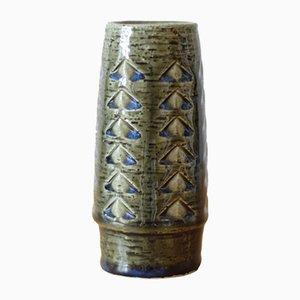 Dänische Mid-Century Vase in Grün & Blau von Per Linnemann-Schmidt für Palshus, 1960er