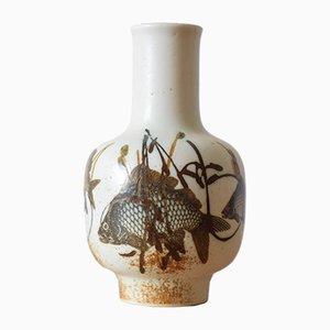 Vase Diana avec Motif de Poisson par Nils Thorsson pour Royal Copenhagen, Danemark, 1970s