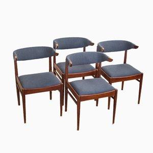 Dänische Teakholz Rinderhorn Stühle, 1960er, 4er Set