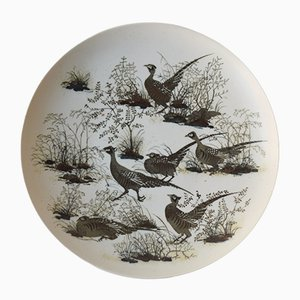 Vintage Danish Diana Huge Platter with Pheasant Motif by Nils Thorsson for Royal Copenhagen, 1970s