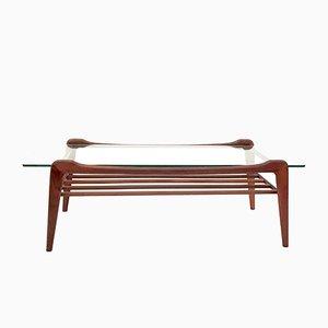 Table Basse Vintage en Teck et en Verre de G-Plan, 1970s