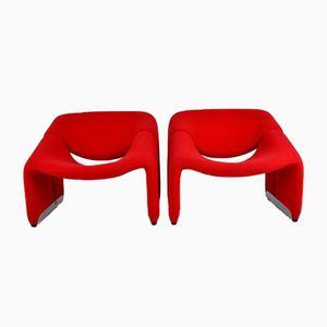 Groovy Chairs F 598 par Pierre Paulin pour Artifort, 1970s, Set de 2