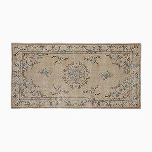 Beige Eingefärbter Vintage Teppich