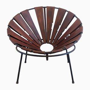 Silla cuenco de cuero de Lina Bo Bardi, años 50