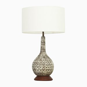 Mid-Century Large American Glazed Ceramic Table Lamp, 1950s