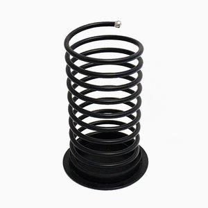 Portaombrelli nero a spirale, anni '80