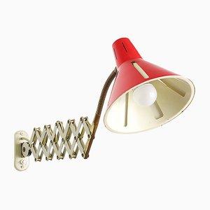 Lampada a forbice rossa di H. Th. J. A. Busquet per Hala Zeist