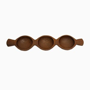Three-Part Teak Bowl, 1970s