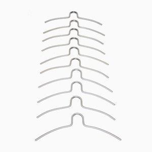 Aluminium Clothes Hanger, 1960s, Set of 10