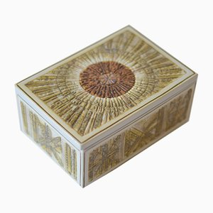 Boîte Oblong Mid-Century en Céramique avc Couvercle par Kari Christensen pour Aluminia, 1966