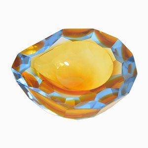 Großer Murano Sommerso Glas Aschenbecher von Flavio Poli, 1950er