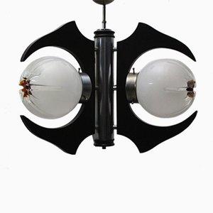 Italienische Deckenlampe mit Drei Leuchten, 1960er