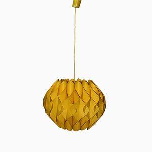 Yellow Pendant Lamp from Linus Popp, 1970s