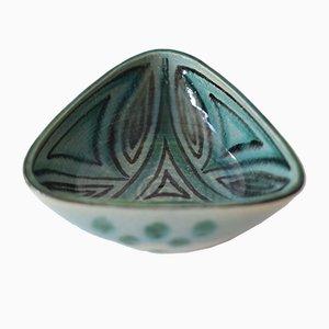 Dänische Dreieckige Mid-Century Schale von Hyllested Keramik, 1960er