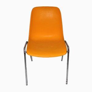 Orangenfarbener Vintage Stuhl, 1970er