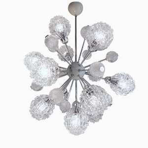 Large Bubble Glass Twelve-Light Sputnik Chandelier from Richard Essig, 1960s