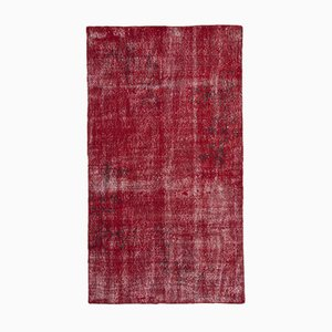Red Overdyed Rug, 1960s