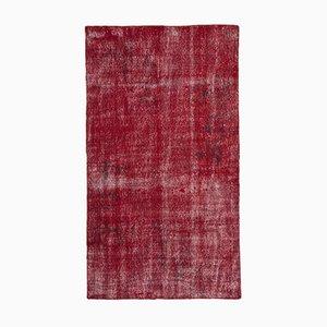 Roter Überfärbter Teppich, 1960er