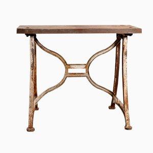Tavolino industriale patinato
