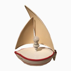 Vintage Italian Boat-Shaped Lamp, 1970s