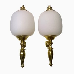Large Italian Wall Lights from Azucena, 1950s, Set of 2