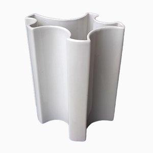 Vase Blanc par Angelo Mangiarotti pour Brambilla, 1960s