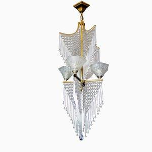 Lámpara de araña francesa modernista vintage de Lorrain/Daum