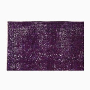 Purple Over-Dyed Turkish Rug