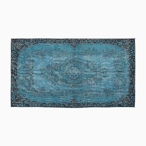 Turquoise Overdyed Turkish Rug