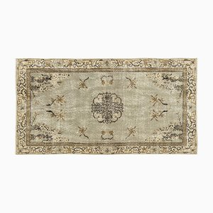 Beige Over Dyed Vintage Rug