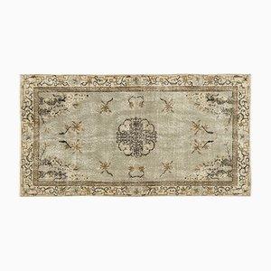Eingefärbter Vintage Teppich in Beige