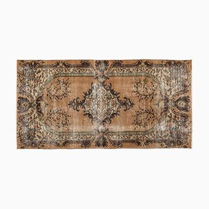 Turkish Over Dyed Vintage Rug in Brown