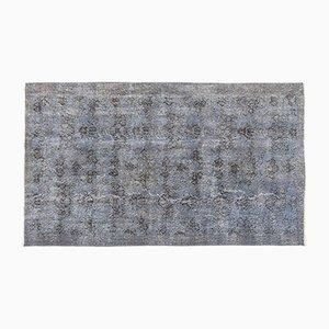 Blau Eingefärbter Vintage Teppich