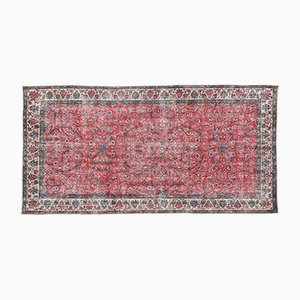 Roter Türkischer Überfärbter Vintage Teppich, 1960er