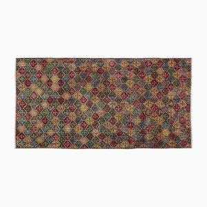 Tappeto multicolore sovratinto, anni '60