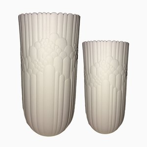 Mid-Century Bisque Porcelain Vases by Rosamunde Nairac for Rosenthal Studio Line, 1960s