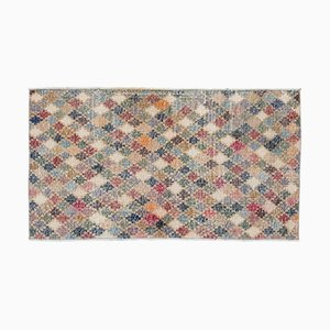 Multicolored Overdyed Vintage Rug