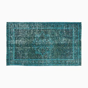 Turquoise Over Dyed Vintage Rug