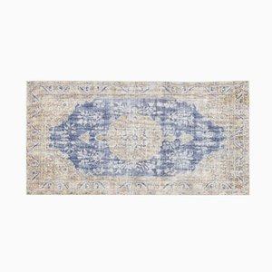 Türkischer Beiger Vintage Teppich