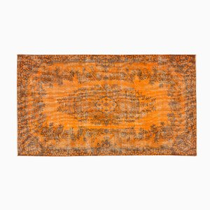 Turkish Orange Over-Dyed Vintage Rug